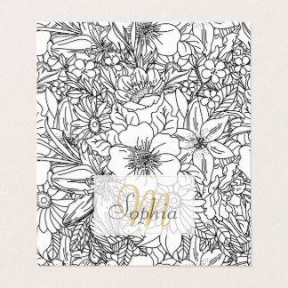 Elegant Hand drawn floral doodles design Business Card