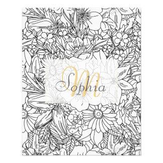 Elegant Hand drawn floral doodles design Flyer