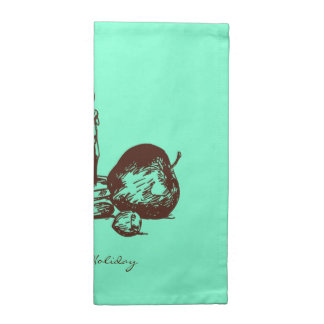 Elegant Hand Drawn Holiday Elements Cloth Napkins