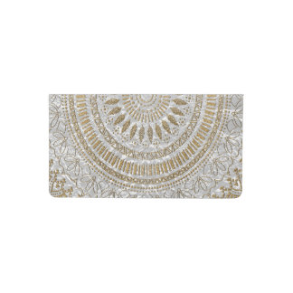 Elegant hand drawn tribal mandala design checkbook cover