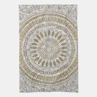 Elegant hand drawn tribal mandala design hand towels