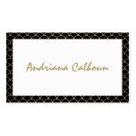 Elegant Handwritten Name with Art Deco Pattern Business Card