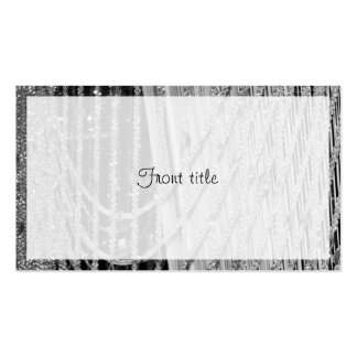 Elegant Hanging Glass Beads Business Cards