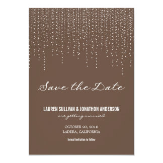 Elegant Hanging Lights Save the Date Card