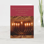 "elegant Hanukkah greeting card<br><div class=""desc"">This is a beautiful Hanukkah greeting card that has a wonderful menorah,  and golden star of David.</div>"