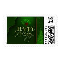 Elegant Happy Holiday Postage