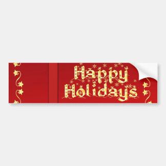 Elegant Happy Holidays Bumper Stickers