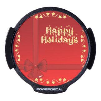 Elegant Happy Holidays LED Car Window Decal