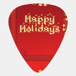 Elegant Happy Holidays Guitar Pick