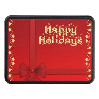 Elegant Happy Holidays Hitch Cover