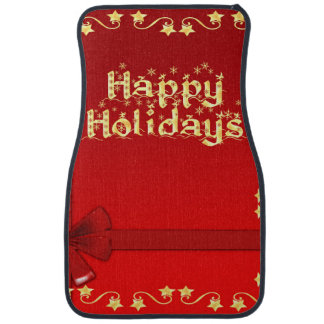 Elegant Happy Holidays Floor Mat