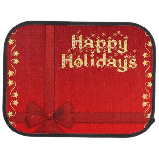 Elegant Happy Holidays Car Mat
