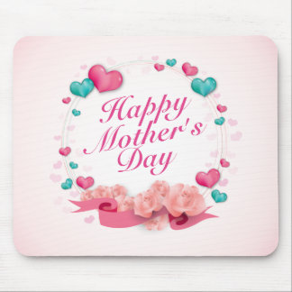 Elegant Happy Mother's Day Candy Hearts Mousepad