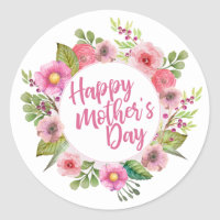 Elegant Happy Mother's Day Floral | Sticker