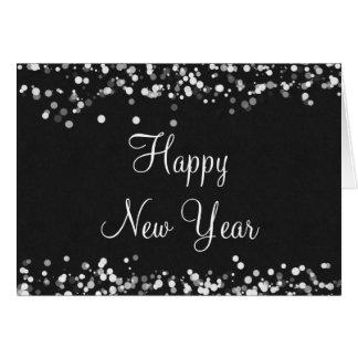 Elegant Happy New Year Greeting Card