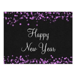 Elegant Happy New Year Postcard