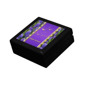 Elegant Happy Norooz Hyacinths - Tile Gift Box