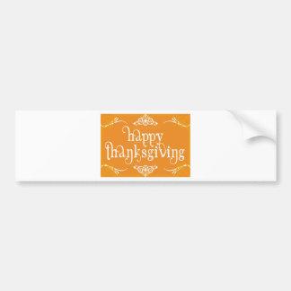 elegant happy thanksgiving bumper sticker