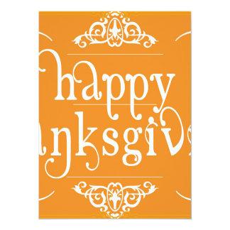 elegant happy thanksgiving card