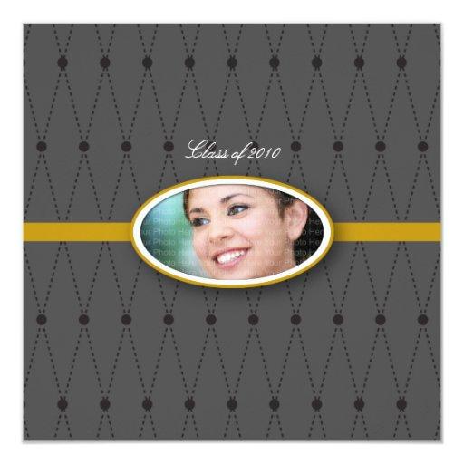 Elegant Harlequin Pattern: Gold Card