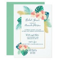 Elegant Hawaiian Hibiscus Bridal Shower Invitation