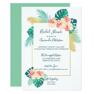 Hawaiian bridal shower invitations zazzle elegant hawaiian hibiscus bridal shower invitation filmwisefo
