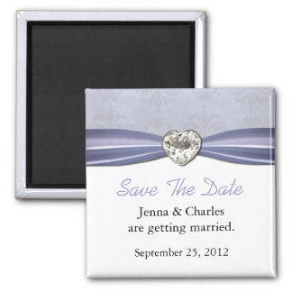 Elegant Heart Diamond Save the Date Magnet
