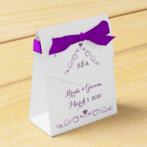 Elegant Heart Frame Wedding Favor Box