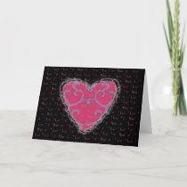 Elegant Heart Valentine Love Romance Card
