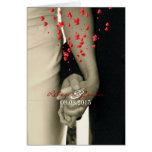 elegant hearts black white hands formal wedding cards