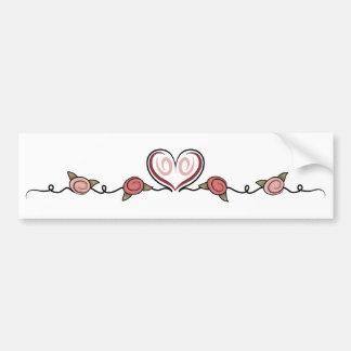 elegant hearts bumper sticker
