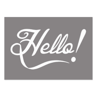 Elegant Hello Large Business Cards (Pack Of 100)