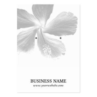 Elegant Hibiscus Flower Earring Holder Business Cards