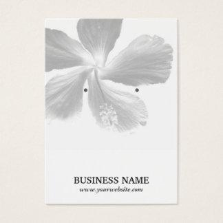 Elegant Hibiscus Flower Earring Holder Business Card
