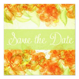 Elegant Hibiscus Save The Date Announement Card