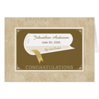 Elegant High School Graduation Congratulations Card
