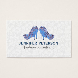 Elegant Hight Heel Shoe Fashion Consultant Business Card