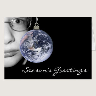 Elegant Holiday Card Supporting Autism Advocacy