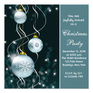 Elegant Holiday Christmas Party Invitation Card at Zazzle