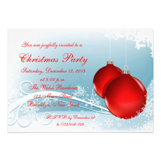 Elegant Holiday Christmas Party Invitation Card