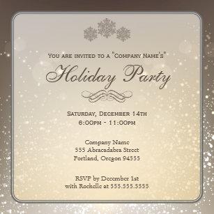 elegant christmas invitations zazzle