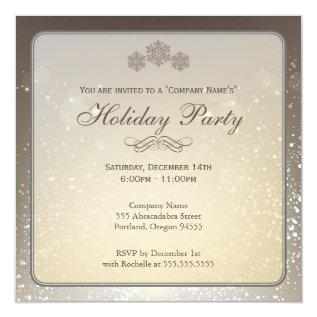 Elegant Holiday Party Company Invitation at Zazzle