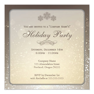 Elegant Holiday Party Company Invitation