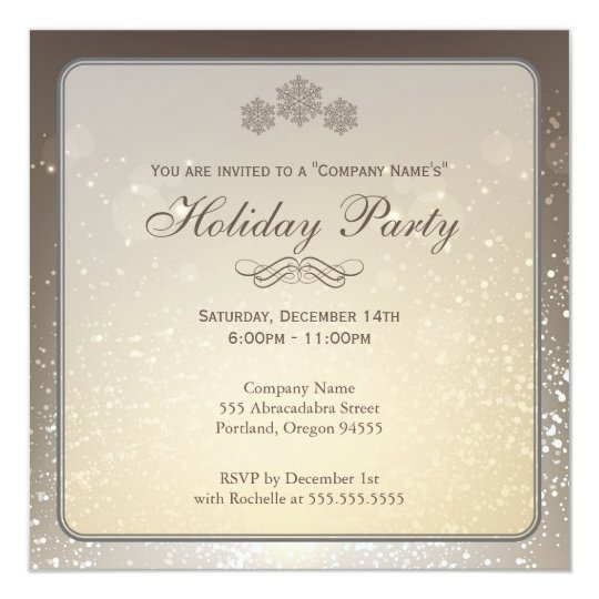 elegant holiday party company invitation. Black Bedroom Furniture Sets. Home Design Ideas