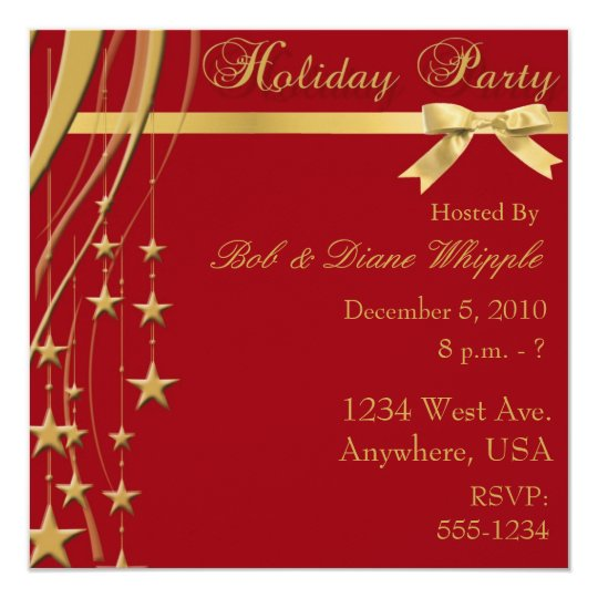 Elegant Holiday Party Invitation