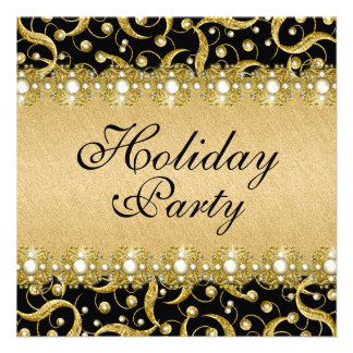 Elegant holiday party year end function personalized invitations
