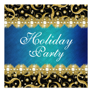 Elegant holiday party year end function custom invitations
