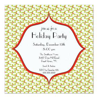 Elegant Holly Holiday Christmas Party Invitation