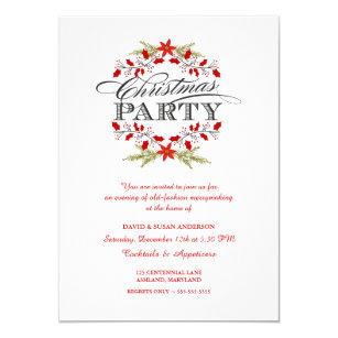 old fashioned christmas invitations zazzle