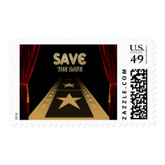 Elegant Hollywood Style Save The Date Postage